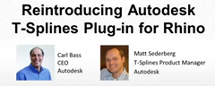 Autodesk T-Splines Plug-in for Rhino Webcast