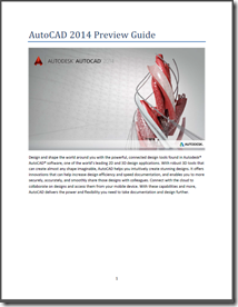 AutoCAD 2014 Preview Guide