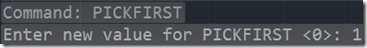 Setting AutoCAD 2014 PICKFRIST System Variable at ther Command line