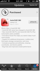 AutoCAD 360 Mobile Update