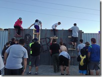 Zombie Chase 5k 2013 Starting Obstacle