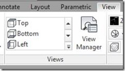 AutoCAD Ribbon's View tab