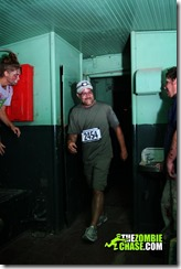 Zombie Chase 5k 2013 Me Going through the haunted train caboose...oooh scary..