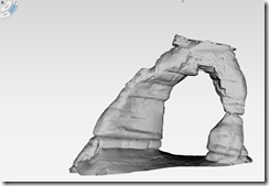 Autodesk Project Memento with Delicate Arch Mesh