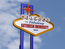 Welcome to Autodesk University 2013 Sign