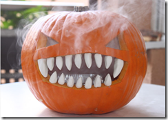 crazy smoking pumpkin