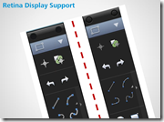 Retina Display Example of Menu Icons