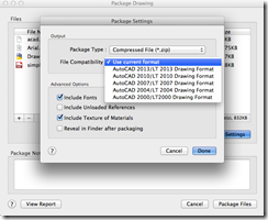 AutoCAD 2014 for Mac Package Drawing