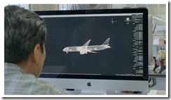 AutoCAD for Mac 2014 on the Mac desktop in the Apple iPad Video