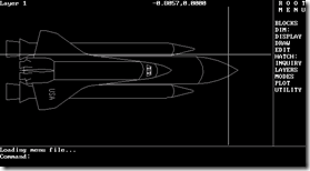 AutoCAD 2.18 and Space Shuttle Sample Drawing