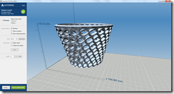 My Creation from Autodesk Labs Project Shapeshifter in the Autodesk 3D Print Utility