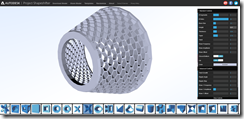 My lens hood creation using Autodesk Labs Project Shapeshifter