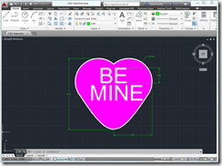 AutoCAD 2014 Valentines Day Card