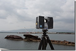 Laser Scanning the USS Utah with FARO Focus 3D