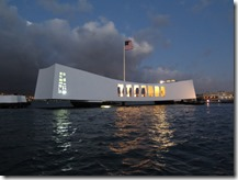 USS Arizona Memorial at Night