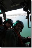 Shaan Hurley and Pete Kelsey on US Coast Guard Helicopter