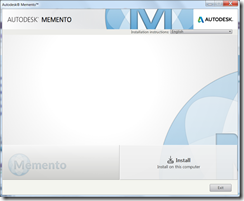 New Autodesk Memento Installer