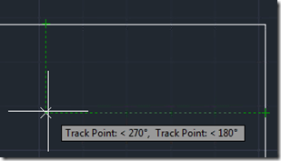 Temporary Tracking point in AutoCAD