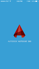 Launch screen of AutoCAD 360