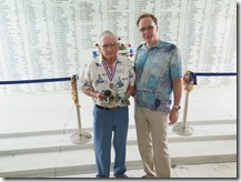 USS Arizona Memorial on Memorial Day with Survivor Don Stratton and Autodesk's Pete Kelsey