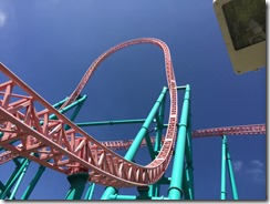 Knotts Better Farm Roller Coaster - Weeee!