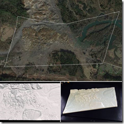 Oso Washington 530 mudslide aerial data and 3D print