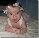 Katie as a beautiful baby girl.