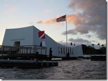 USS Arizona Memorial at Sunset