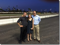With Two fo my Children at Los Alamitos Racetrack