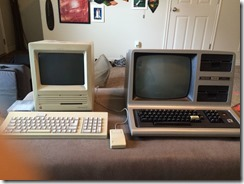 Apple Macintosh SE and Radio Shack TRS-80