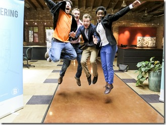 Jumping Students Photo by: Aaron Jackendoff