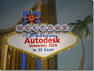 33 Days Until Autodesk University 2014