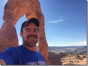 Me at Delicate Arch Selfie