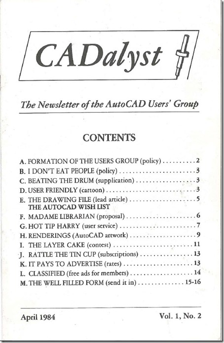 CADalyst Magazine April 1984