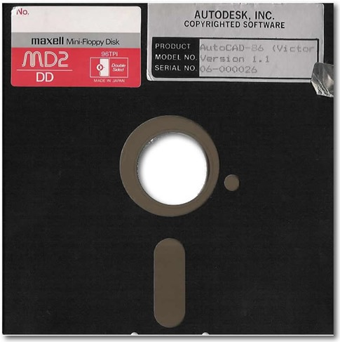 AutoCAD 86 1.1 disk by Shaan Hurley (c)