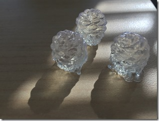 The 3D pinecone prints from the Autodesk Ember 3D printer.