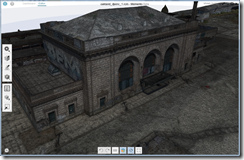 Autodesk Memento Beta showing 3D model created using  photos from a drone UAV