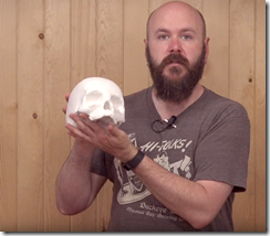 David of Make Something using the free and fun Autodesk 123D Make to create a full size 3D skull.