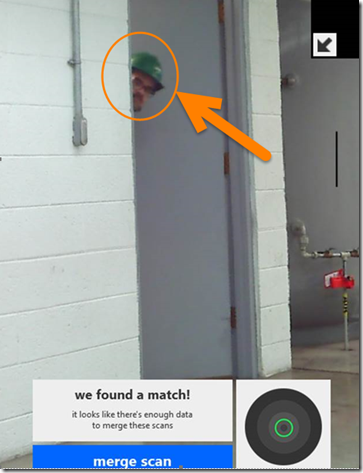 PeekaBoo with a Laser Scanner