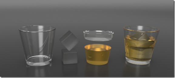 Deconstructed drink in Fusion 360