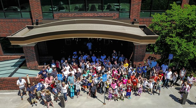 Kids at Autodesk Day in Lake Oswego Oregon