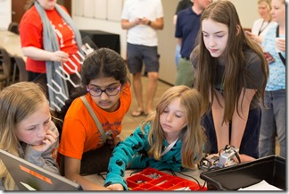Kids at Autodesk Day