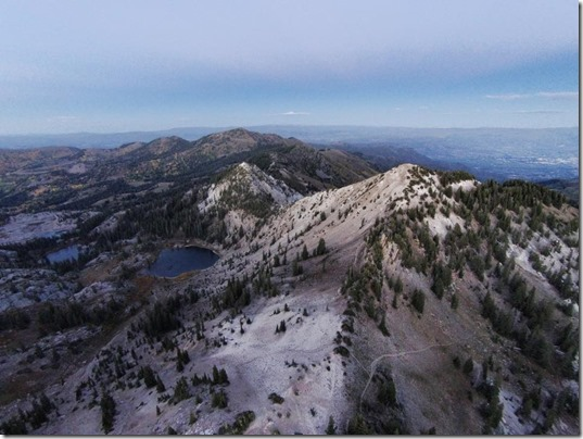 Drone Photo looking at Sunset Peak