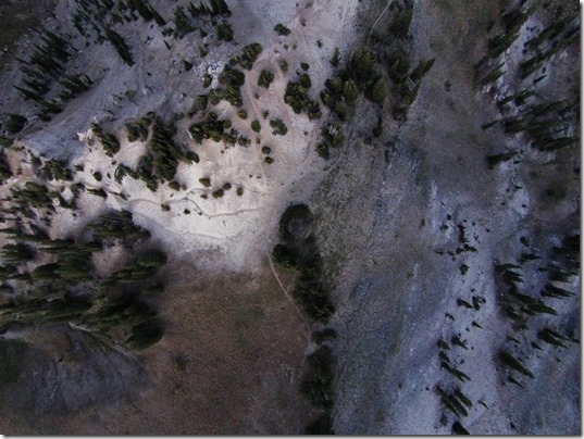 Drone Photo looking Down