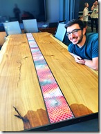 Autodesk's Evan Atherton and the Autodesk's AR Lab Conference Table