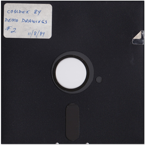 AutoCAD 1.0 Demo Drawings for 1984 COMDEX