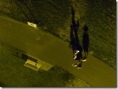 UFO suspecting crowd with me in this photo by the UAV