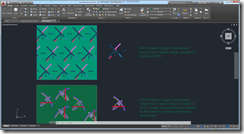 PDX Carpet Designs in AutoCAD 2016 and DWG