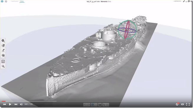 3D USS Arizona in model in Autodesk Memento