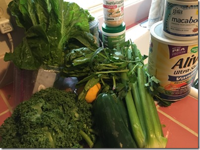 Shaan's Hot Green Goodness Smoothie Ingredients